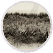 Sand Dune In Sepia Round Beach Towel