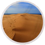 Sand Dune Of Canaria Round Beach Towel