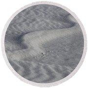 Sand Patterns 2 Round Beach Towel