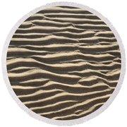Sand Ripples Round Beach Towel