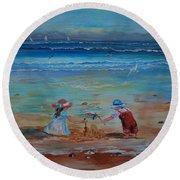 Sandcastle Round Beach Towel