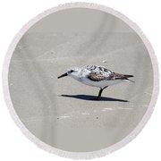 Sanderling On The Beach Round Beach Towel