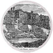 Sandstone Quarry, 1840 Round Beach Towel