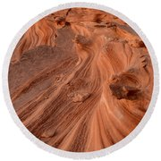 Sandstone Waves Little Finland Round Beach Towel