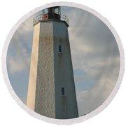 Sandy Hook Lighthouse 2 Round Beach Towel