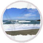 Sandy Shores Of Oregon Round Beach Towel