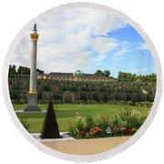 Sanssouci Garden Round Beach Towel