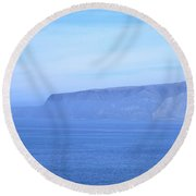 Santa Cruz Island Round Beach Towel