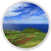 Sao Miguel - Azores Islands Round Beach Towel