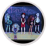 Sarah's Monster High Collection Round Beach Towel