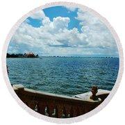 Sarasota Bay In Florida Round Beach Towel