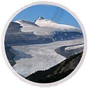 Saskatchewan Glacier Banff National Park Round Beach Towel