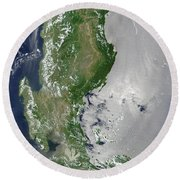 Satellite Image Of The Northern Round Beach Towel