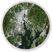 Satellite View Of The Pawtucket Round Beach Towel