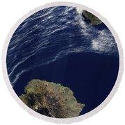 Satellite View Of The Prince Edward Round Beach Towel
