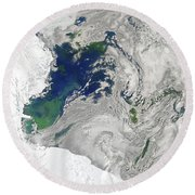 Satellite View Of The Ross Sea Round Beach Towel