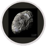 Saturns Moon Hyperion Round Beach Towel