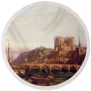 Saumur -  By The Loire Valley  Round Beach Towel