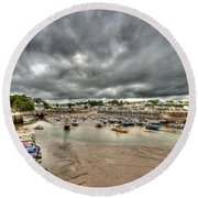 Saundersfoot Harbour Round Beach Towel