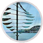 Sausalito Coast Round Beach Towel