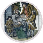 Savoyard Family, C1797 Round Beach Towel