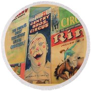 Sawdust And Greasepaint 2 Round Beach Towel