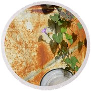 Say Goodbye Round Beach Towel by Carolyn Marshall
