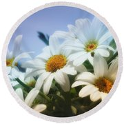 Say It With Flowers Round Beach Towel
