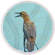 Say What Round Beach Towel