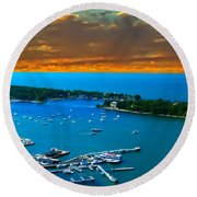 S.bass Is. Lake Erie Round Beach Towel