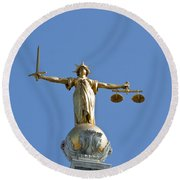 Scales Of Justice Round Beach Towel
