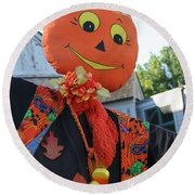 Scarecrow Candy Round Beach Towel
