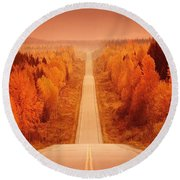Scenic Highway Round Beach Towel