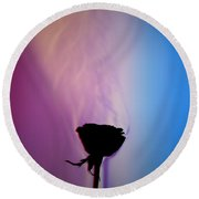 Schlieren Image Of A Roses Aroma Round Beach Towel