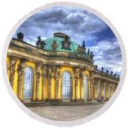 Schloss Sanssouci     Berlin Round Beach Towel