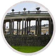 Schloss Sanssouci Gardens Round Beach Towel