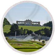 Schonbrunn Palace Gardens  Round Beach Towel