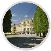 Schonbrunn Palace Vienna Austria Round Beach Towel