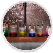 Science - Chemist - Glassware For Couples Round Beach Towel