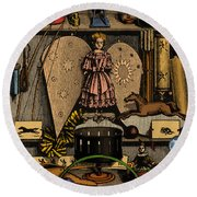 Science In The Nursery, Frontispiece Round Beach Towel