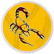 Scorpion Graphic  Round Beach Towel