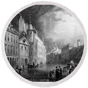 Scotland: Aberdeen, 1833 Round Beach Towel