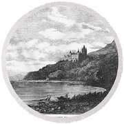 Scotland: Dunrobin Castle Round Beach Towel