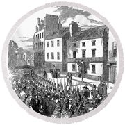 Scotland: Perth, 1848 Round Beach Towel