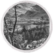 Scotland: Spey Valley Round Beach Towel