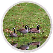 Scott Lake Visitation Round Beach Towel