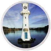Scott Memorial Lighthouse 2 Round Beach Towel