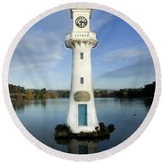 Scott Memorial Roath Park Cardiff Round Beach Towel