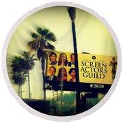 Screen Actors Guild In La Round Beach Towel