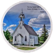 Scriptue And Picture Isaiah 56 7 Round Beach Towel